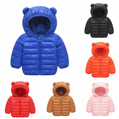 1pc infant Toddler Kids baby clothes girls boys thick winter warm hoodie coat