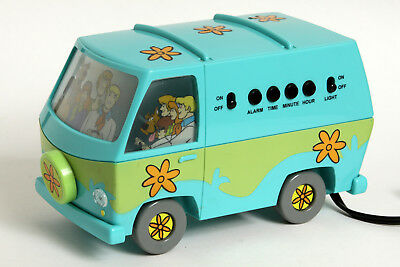 Vtg 1999 Hanna-Barbera Scooby-Doo Mystery Machine Van Alarm Clock & Night Light