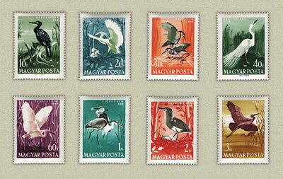 Hungary 1959. Animals / birds nice set MNH (**) Michel: 1593-1600 / 7 EUR