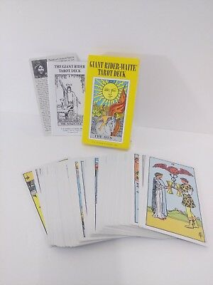 GIANT The Original Rider Waite Tarot Pack Set Smith Deck Cards Instructions Box