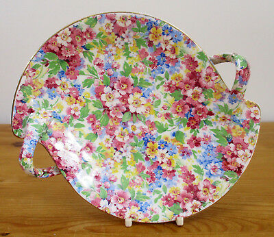 c.1950's James Kent 'Apple Blossom' Chintz Twin Handled Nuts/Sweets/Nibbles Dish