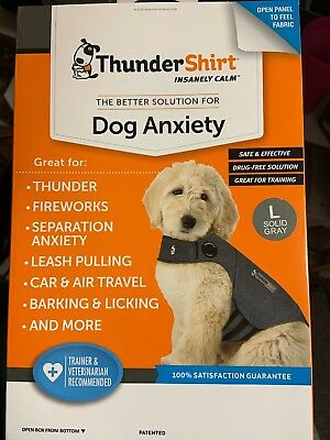 Thundershirt Dog Anxiety Calming Treatment L Dogs Solid Gray - HGL-T01