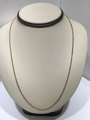 """Beautiful Solid 14KT Yellow Gold Deigner MS CO Linked Chain Necklace 20 """" Long"""
