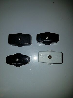 Inline Cord Switch -  Rocker Style Feed Thru Switch, Lamp Wire Total of 4