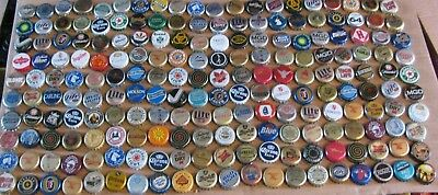 200 Mixed Worldwide Beer Caps From Current To Old School Obsolete Caps