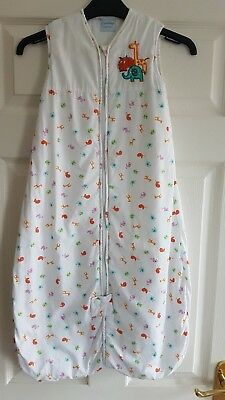 Original Grobag/Sleeping Bag 6-18 Months 2.5 tog white zoo safari animals