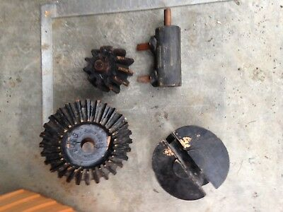 Lot of 4 Vintage Antique Foundry Pattern Form Mold Industrial Wood Gear Pulley
