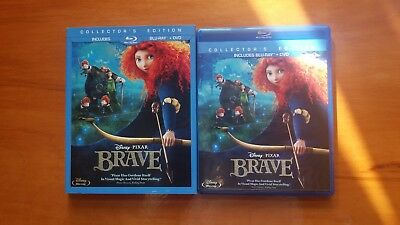 Brave (Blu-ray/DVD, 2012, 3-Disc Set, Collectors Edition)RARE OOP SLIPCOVER
