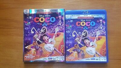 Coco Disney Bluray 3 disc set with Slipcover NO DIGITAL