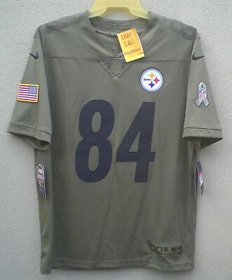 3e6d4f0dd5c Nike Antonio Brown Men s 2017 Salute To Service Pittsburgh Steelers Jersey   160