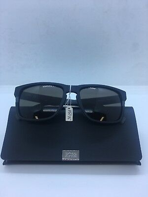 168894fed1 Hugo Boss Men s 0916S 0916 S 1X1 NR Matte Black Gray Square Sunglasses