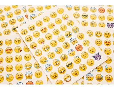 4x Emoji Sticker Smiley Emoticon Stickerbogen 48 verschiedene