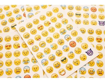2x Emoji Sticker Smiley Emoticon Stickerbogen 48 verschiedene