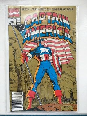 Captain America 383 - NM..1991.Marvel Comics..Triple-sized 50th Anniversary.