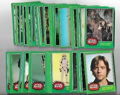 Star Wars 1977 Trading Cards Series 4 Green Complete Set 199-264 G-Vg