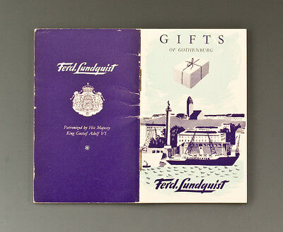 Heft Ferd. Lundquist GIFTS OF GOTHENBURG um 1955