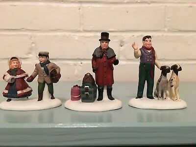VISION OF A CHRISTMAS PAST Dept 56 Set of 3 Heritage Village Collection #5817-3