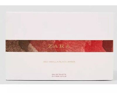 ... ZARA RED VANILLA 100ml & BLACK AMBER 100ml SET EDT FRAGRANCE Brand New Sealed
