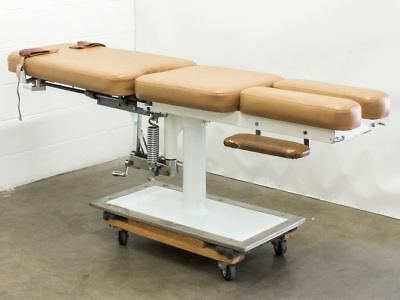"Chiropractic Flex Table - VINTAGE 1984 - 83"" Long with Hand-Crank Mechanisms"