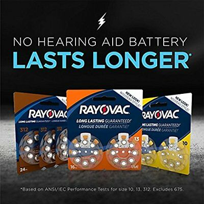 Rayovac Hearing Aid Battery Sz10, 24Cells, Sz13 36Cells, Sz312 24Cells B. Price