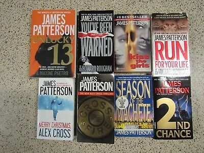 Lot of 8 JAMES PATTERSON BOOKS