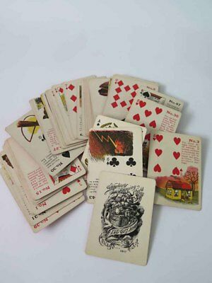 Antique GYPSY WITCH Fortune Telling Cards by Madame LeNormand  Chicago, USA