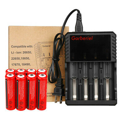 UltraFire 18650 BRC 3000mAh Li-ion 3.7V Rechargeable Battery Flashlight +Charger