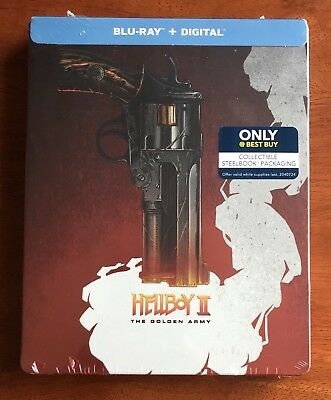Hellboy II The Golden Army (Blu-ray & Digital Code, 2018) Best Buy Steelbook NEW