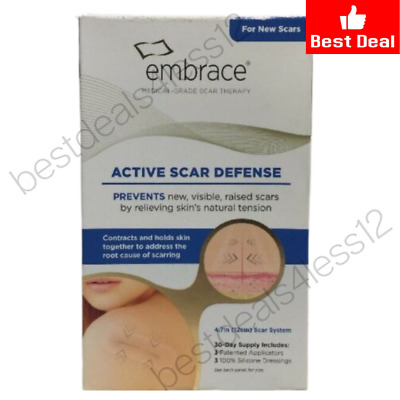 (New) Embrace Active Scar Defense Silicone Scar Sheets For New Scars, 3 applicat