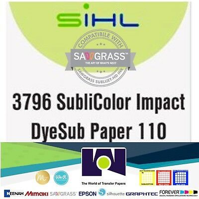 "Sublimation Paper - MADE IN GERMANY- size 8.5""x11"" 100 SHEETS for Sawgrass SG400"