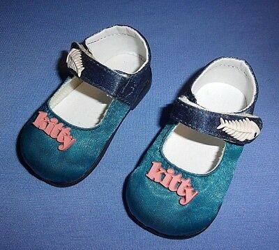 "New Pairs Of Custom My Twinn Teal Shoes For 23"" Poseable Dolls"