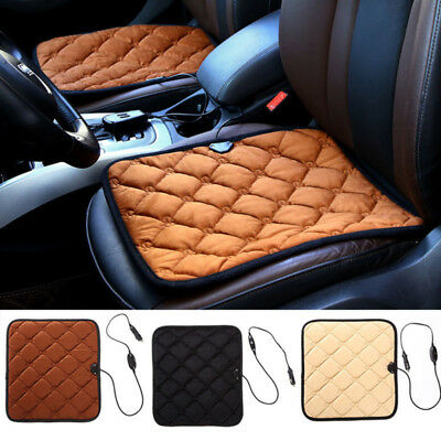 Car Auto Front Seat Hot Heated Pad Cushion Warmer Protectors Cover Coffee/Black