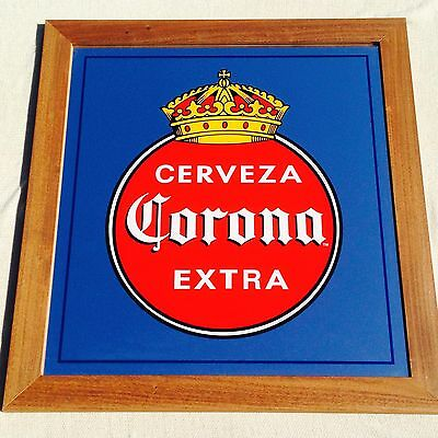 """New"" Corona Extra Cerveza Beer Mirror Frame Bar Sign"