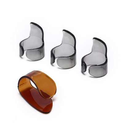 4pcs Finger Guitar Pick 1 Thumb 3 Finger picks Plectrum Guitar accessories Gx N4