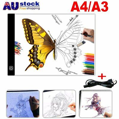 LED Drawing Pad Table Box A4 A3 Acrylic Art Tattoo Stencil Board Light Tracing