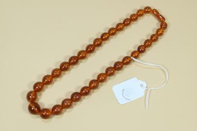 Vintage Chinese Amber Beads Necklace.