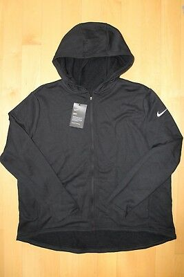 6e6e4c4526c NWT NIKE Logo Women s PLUS SIZE DRI-FIT Full Zip Hoodie Sweatshirt BLACK 1X