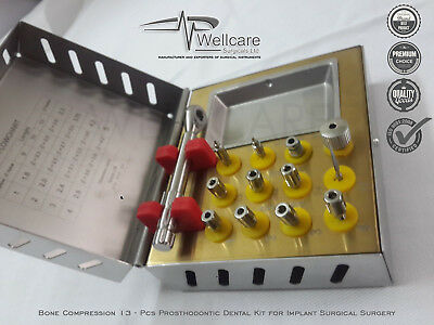 Bone Compression 13 Pcs Prosthodontic Dental Kit for Implant Surgical Surgery