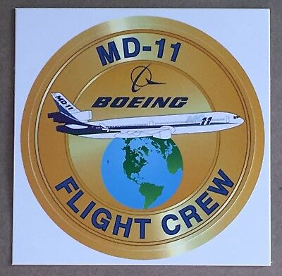 Vintage McDonnell Douglas Boeing MD-11 aircraft bumper sticker / decal NEW