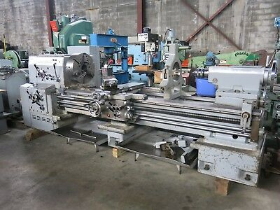 "Ikegai 30 x 80"" Lathe 3 5/8"" Hole with Dorian Toolpost & Chucks"