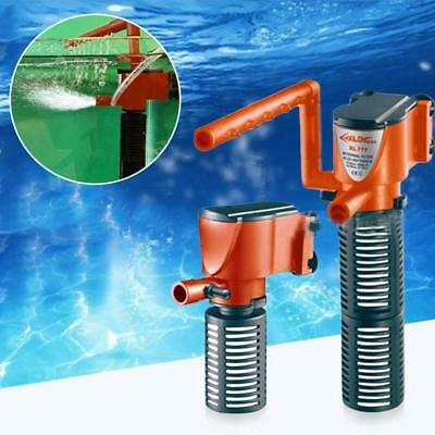 3in1 Aquarium Internal Filter Oxygen Submersible Water Pump For Fish Tank Pond