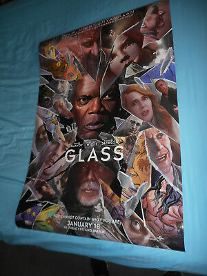 "Bruce Willis Samuel L. Jackson GLASS official movie poster DS 27""x40"" New 2019"