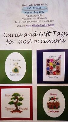 Small cross stitch charts patterns books for cards and gift tags