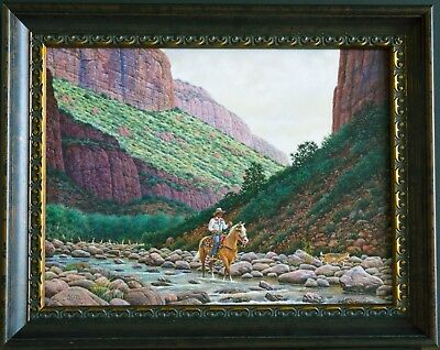 Jimmy Abeita / Original Navajo Oil On Canvas Painting / $6,600 Original Price