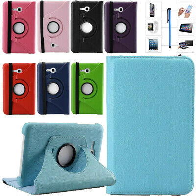 """360 Rotating Cover Case Stand Folio For Samsung Galaxy Tab 3 4 7"""" 8"""" 10.1 Tablet"""