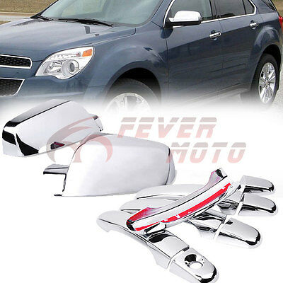 For 2010-2016 Chevy Equinox GMC Terrain Chrome Side Door Handle Mirror Cover FM