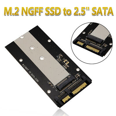 "B Key M.2 NGFF SSD to 2.5"" SATA Converter Adapter Card 2230-2280 For Laptop Mac"