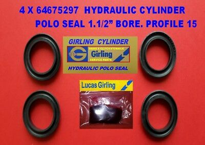 SCHAFER 4 X  H22300  F.A.G HYDRAULIC POLO SEALS  22.2MM PROFILE 15