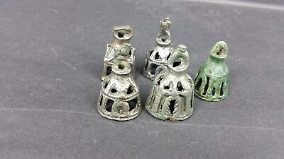 ANCIENT LURISTAN Bronze AGE BRONZE 5 BEAUTIFUL BELLS SET  C.1000 BC.