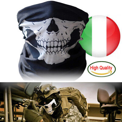 Bandana Scaldacollo Teschio Ghost Softair Moto Skull Gadget Halloween E Regalo